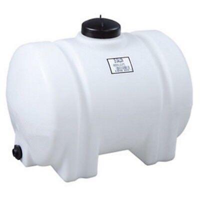 "35 Gallon Horizontal Plastic Water Storage Tank with 3/4"" Ga"