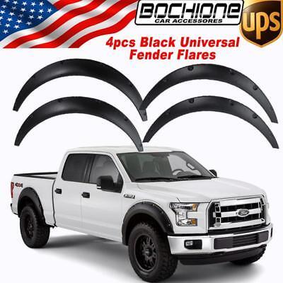 4X Black Universal Flexible Auto Car Truck Fender Flares Wide Body Wheel Arches