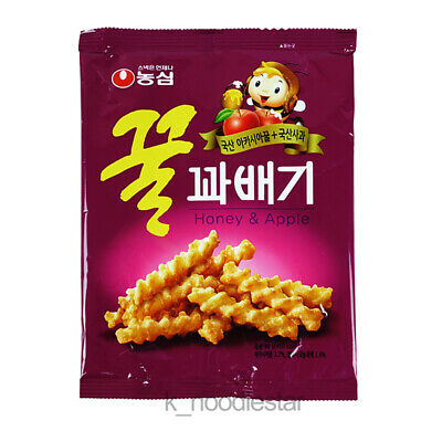 [Nongshim] Acacia Honey Twist Snack Apple Sweet Funny Shape Korean Food 90 g