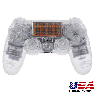 Transparent Full Set Shell Case Buttons Repair for Dualshock 4 PS4 Controller
