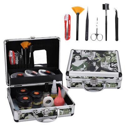 23 Pcs Wimpernverlängerung Seidenwimpern Make up Kit Set Zubehör mit Koffer DHL