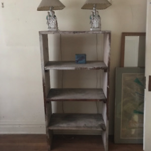 Vintage solid wood book case or  shelving unit... DIYproject