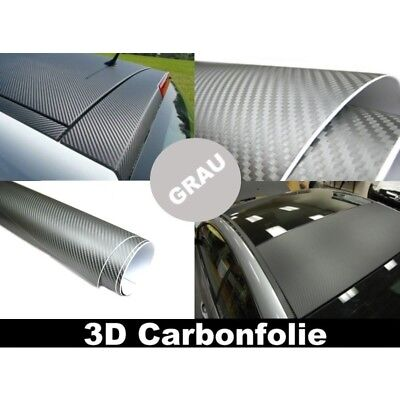 (5,00€/1qm) 3D Carbon Folie GRAU 500x152cm flexibel selbstklebend Carbonfolie 5m