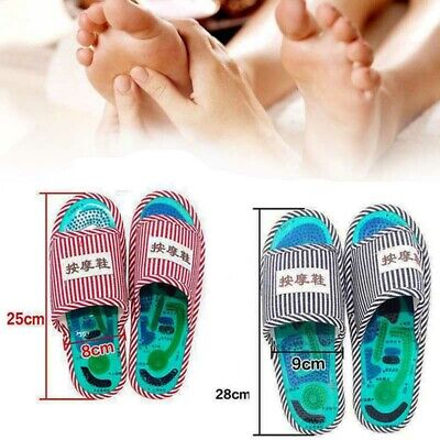 Acupuncture Foot Massage Slippers Health Shoe Shiatsu Magnetic Sandals Massager (Magnetic Slippers)