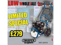 DRAPER 83818 EXPERT 6.5HP PETROL PRESSURE WASHER POWER WASH