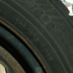 winter tires with steel rims 225 60R16