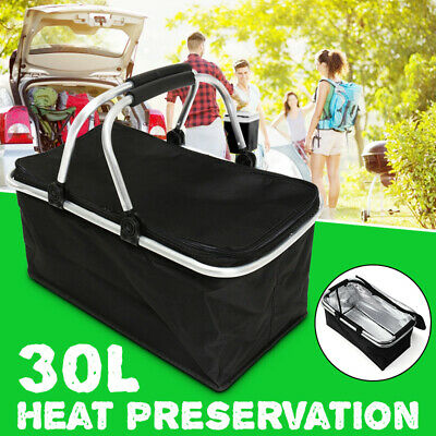 30L Insulated Bag Large Folding Picnic Basket Cooler Waterpr