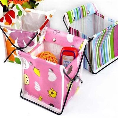 Makeup Cosmetic Storage Box Foldable Stationary Container Desk Organiser Box Bag
