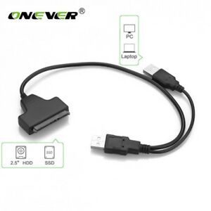"USB 2.0 To USB 2.0 SATA 22 Pin Adapter Cable For 2.5"" Ext H D"