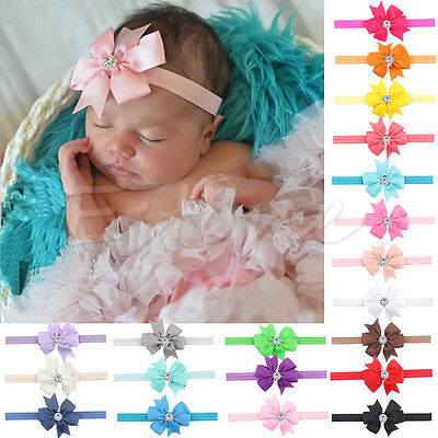 10Pcs Newborn Baby Girl Headband Infant Toddler Bow Hair Band Girls Accessories