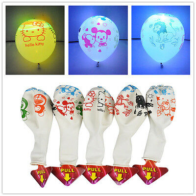20Pcs Cartoon LED Balloon 12