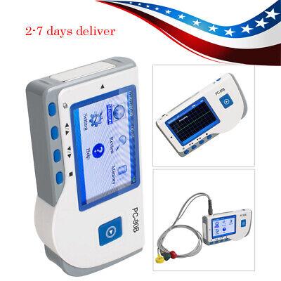 Portable Lcd Ecg Ekg Heart Beat Rate Monitor Interpretation 1-channel Monitoring