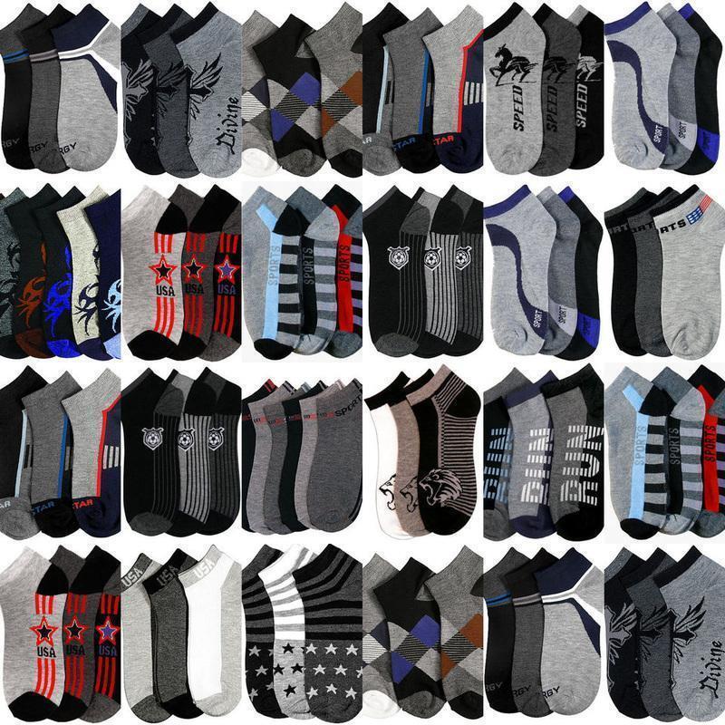 12 Paar Herren Sneaker Socken Farben Muster Baumwolle 39 40 41 42 43 44 45 46