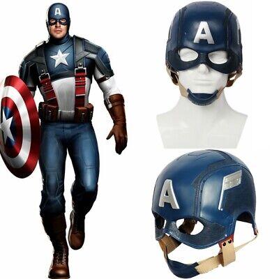 Avergers Captain America Helmet Mens Cosplay Mask Costume Replica Props