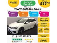 2016 WHITE VW GOLF R 2.0 TSI 300 4X4 DSG PETROL 5DR ESTATE CAR FINANCE FR £83 PW