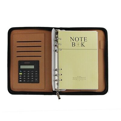 A5 Pu Leather Executive Zippered Business Planner Binder Organizer Packet Y5a5