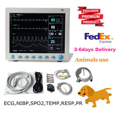 Veterinary Patient Monitor Icu Vital Signs Monitor Ecgnibpprspo2tempresp