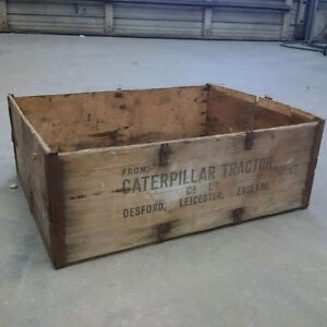 Antique Caterpillar Wooden parts Box!