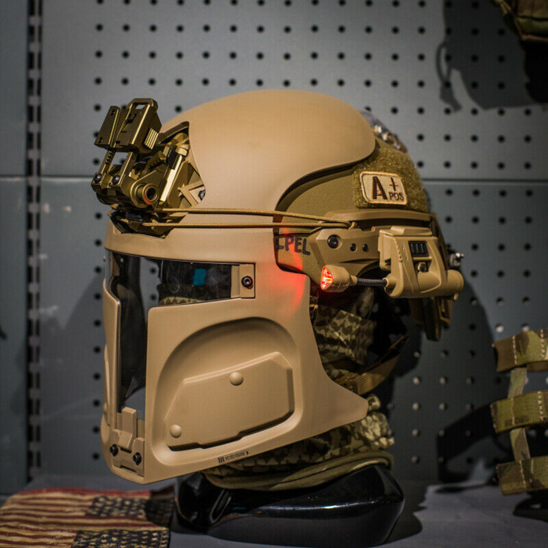 Sand Desert Raider Bounty Hunter Helmet Mask for Ops-Core FAST (mask only)