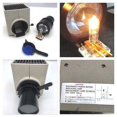 Olympus Bh2 Bh-2 Microscope Lamp Housing 12v 100w Hal-l W Blue Filter Free Ship