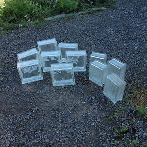 Glass Blocks - 7 Large, 4 small all for $40