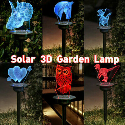 Novelty Garden Solar Lights LED 3D Animal Ornaments Yard Lam