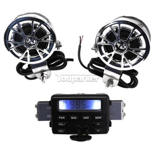Audio FM Radio Stereo Speakers For Yamaha V-Star XVS 650 1100 Custom Silverado