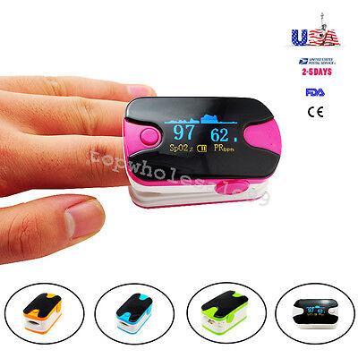 Upgraded Finger Pulse Oximeter Oled Oxygen Heart Rate Spo2 Monitor 18m Warranty