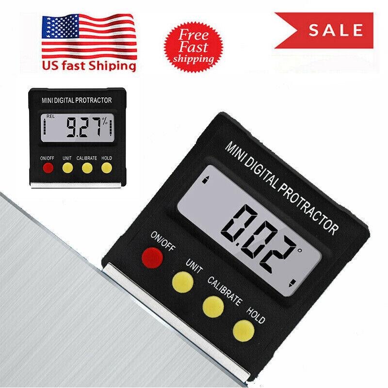4* 90° Digital Inclinometer Level Box Protractor Angle Finder Bevel Gauge Magnet