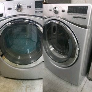 WHIRLPOOL DUET SILVER WASHER AND DRYER