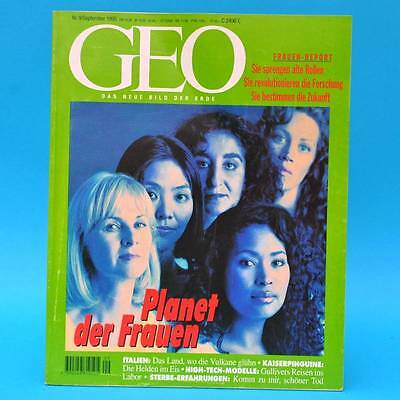 GEO Magazin 9/1995 | Sterbe-Erfahrungen Kaiserpinguine Italienische Vulkane