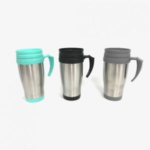 Insulated STEEL Thermal Travel Coffee Mug Flask Cup Removable Lid Drink Warm