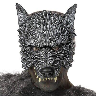 WERWOLF MASKE Halloween Wolf Wolfsmensch Halbmaske grauHorror Kostüm Party - Halloween Wolf Kostüm