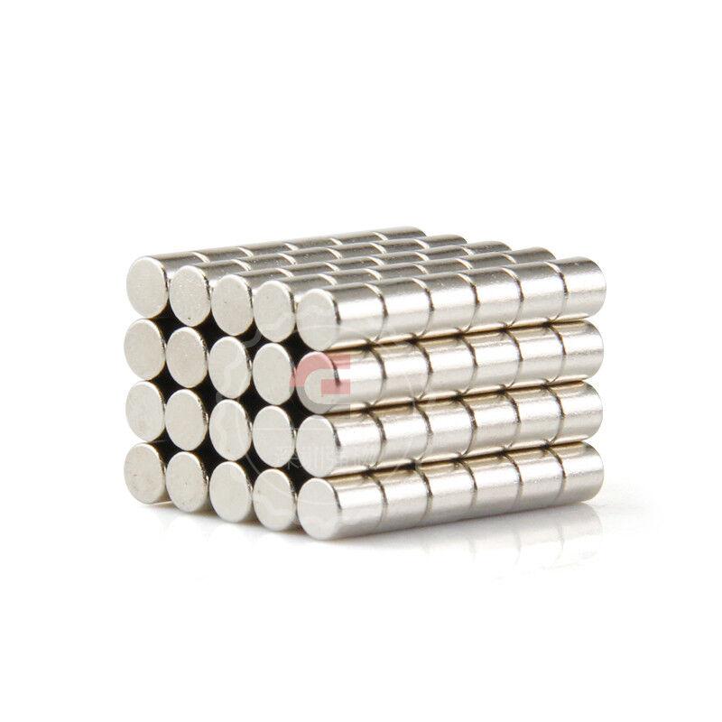 Neodym Magnete super stark Scheiben Würfel N35 N45 N50 doppelt vernickelt Scheibe - Ø 6 X 5mm