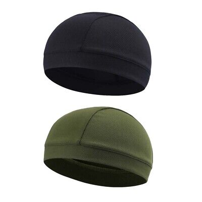 2 Pack Men Quick-Dry Skull Cap Sweat Beanie Hat Cycling Do-Rags Workout Cap US](Pack Hat)