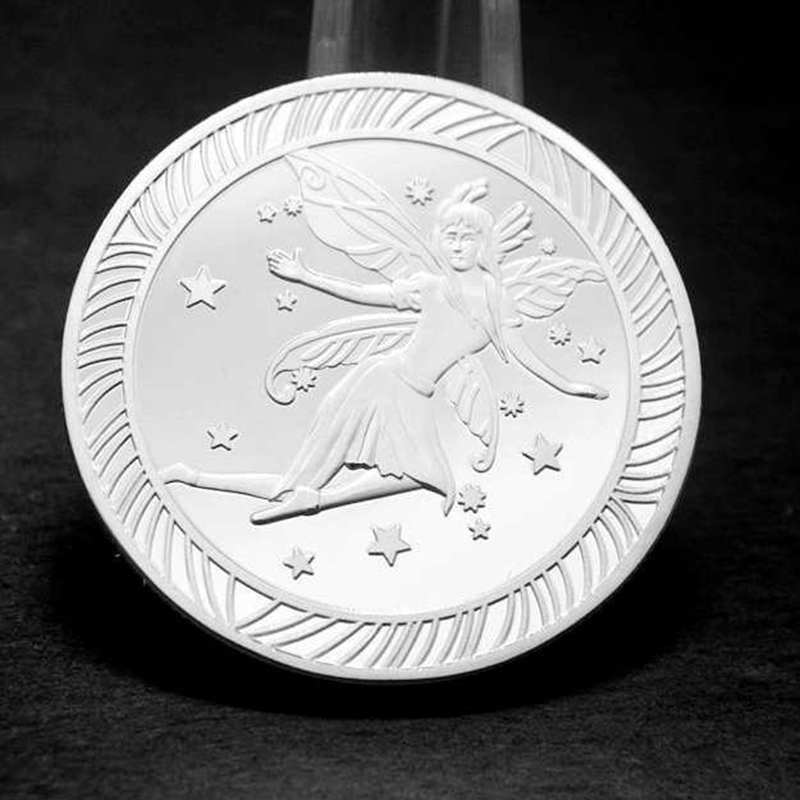 Tooth Fairy Commemorative Coin Creative Kids Tooth Change Silver Plated