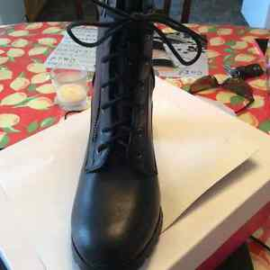 Brand new/never worn black zip/lace up boots $25 St. John's Newfoundland image 3