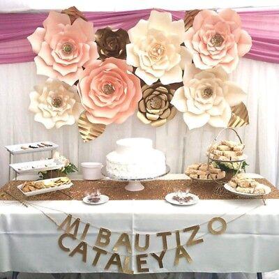 30cm DIY Papier Blume Hintergrund Wand Große Rose Blumen Hochzeit Dekor