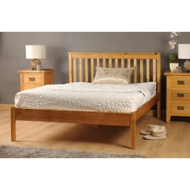 Double bed wood frame