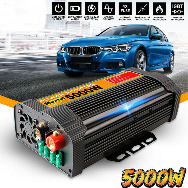 Car Solar Power Inverter DC 12V to AC 110V Sine Wave Converter 6000W for Outdoor