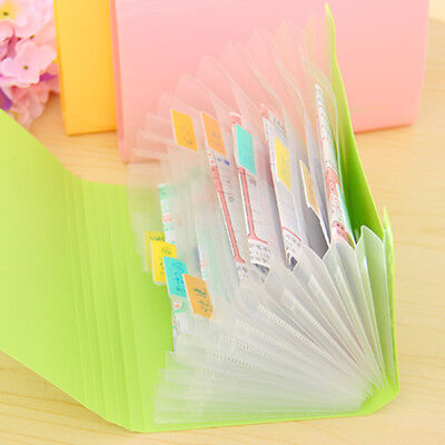 Creative Candy Color Mini File Document Bag File Folder Expanding Wallet