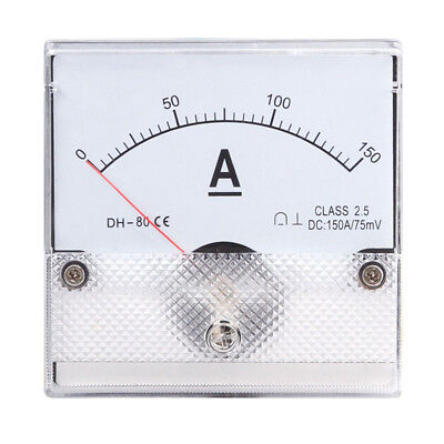 1pc Square Analog Panel Amp Current Meter Dc 0-150a Ammeter Gauge Dh-80 8080