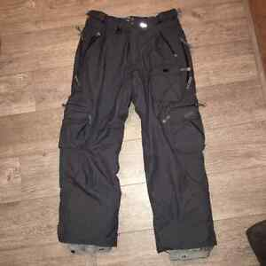 686 Snowboard Pants - Charcoal Grey, size M (Medium), Excellent