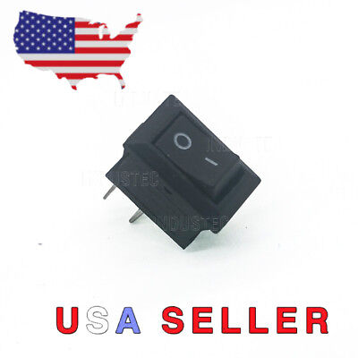 Industec Mini 10mm-15mm Onoff Rocker Switch 2 Pin 6a 250v Spst 12v 24v Dc Boat
