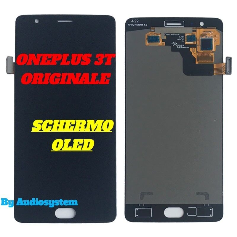 DISPLAY LCD OLED ORIGINALE ONEPLUS 3T 1+3 A3000 A3003 TOUCH SCREEN VETRO A3010