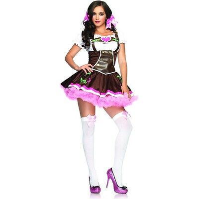 Bavarian Lady OKTOBERFEST Costume German Girl Dress Adult Medium Large 8 10 12