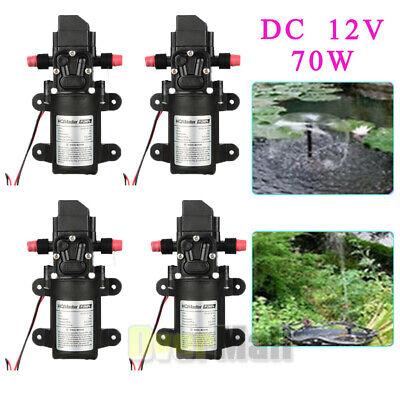 4pcs 6lmin Dc 12v 70w High Pressure Micro Diaphragm Water Pump Automatic Switch