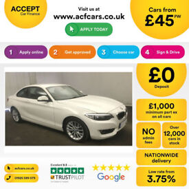 White BMW 218 2.0TD 2014 d SE FROM £45 PER WEEK!