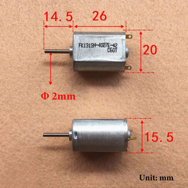 FK-131PH DC 3V 3.7V 4.8V 28000RPM High Speed HM Motor Mini Carbon Brush DC Motor