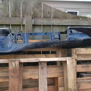 USED 2015 SILVERADO BUMPER -BLACK-REAR